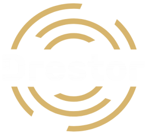 Drestor logo biele